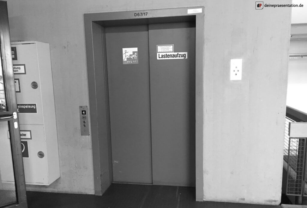 Aufzug Elevator Pitch Titelbild