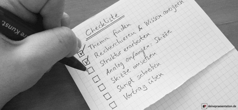 Checkliste Präsentation erstellen Titelbild